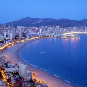 Benidorm by night